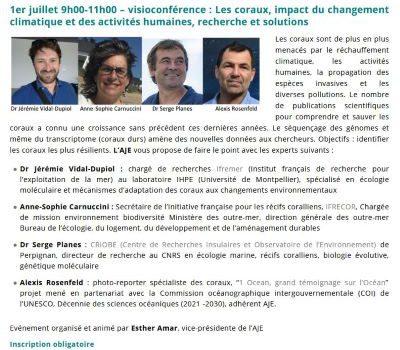 J. Vidal-Dupiol invité au webinaire de l'Association des Journalistes de l'Environnement